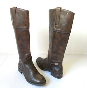 Pikolinos Brown antiqued riding boots size 40